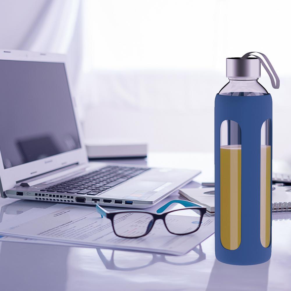 20 oz. Blue BPA Free Glass Water Bottle