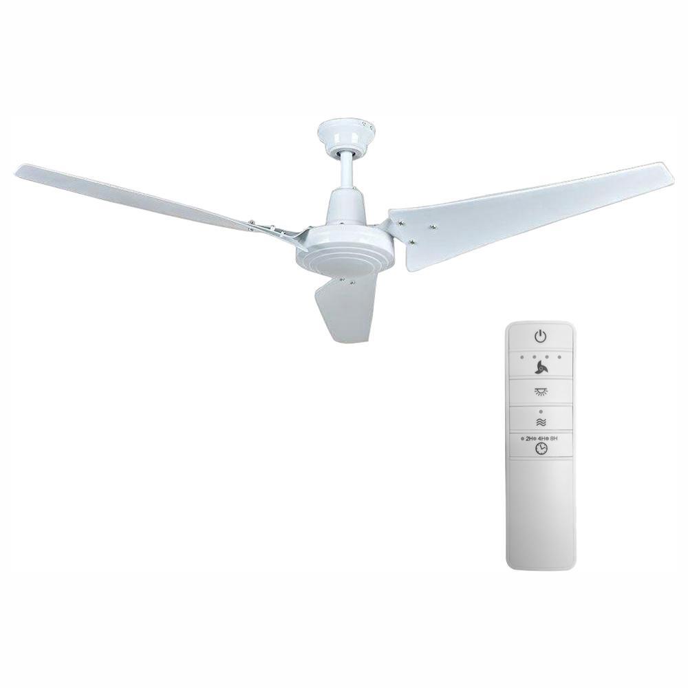 Hampton Bay Industrial 60 In Indoor White Smart Ceiling