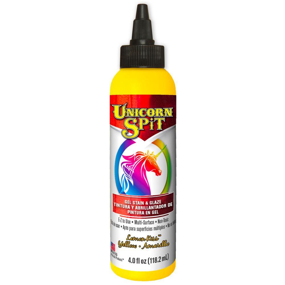 4 fl. oz. Lemon Kiss Yellow Gel Stain and Glaze Bottle (Case of 6)