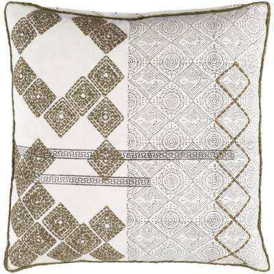 Artistic Weavers Landau Green Geometric Polyester 18 In X 18 In Throw Pillow S00151095013 The Home Depot