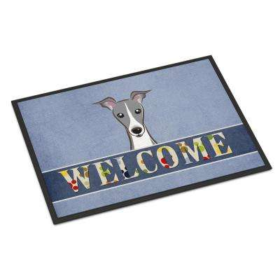 18 in. x 27 in. Indoor/Outdoor Italian Greyhound Welcome Door Mat