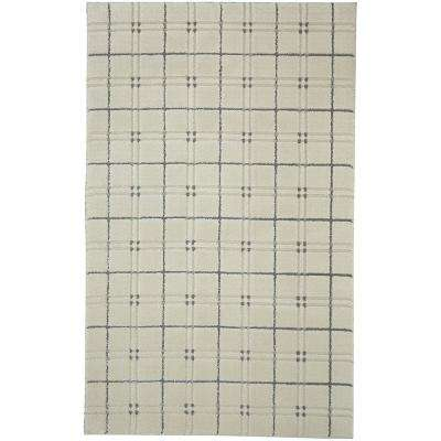Gingham Cream 8 ft. x 10 ft. Area Rug
