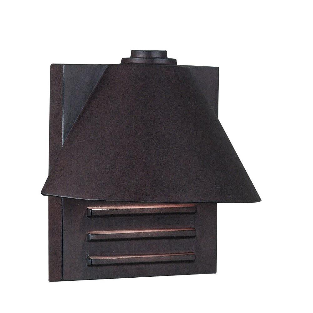 Kenroy home fairbanks copper outdoor wall mount small lantern kenroy home fairbanks copper outdoor wall mount small lantern 10160cop the home depot amipublicfo Images