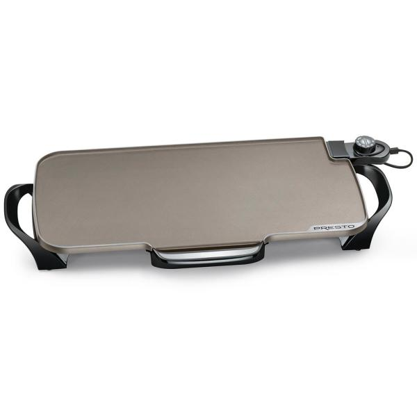 264 sq. in. Black Ceramic Electric Griddle with Temperature Sensor