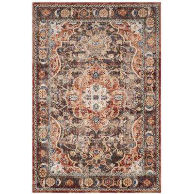 Bijar Brown/Rust 8 ft. x 10 ft. Area Rug
