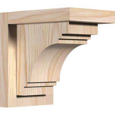 5-1/2 in. x 8 in. x 8 in. Douglas Fir Pescadero Smooth Corbel with Backplate