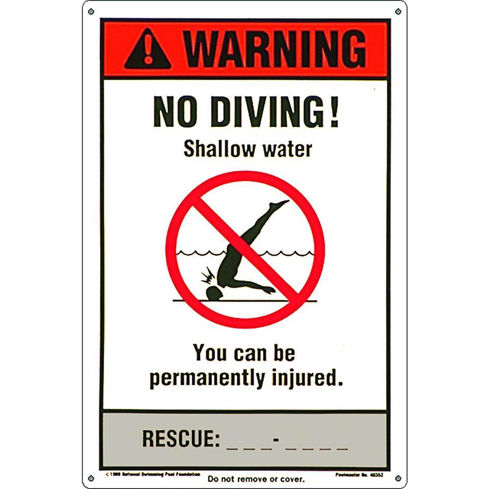 NSPF No Diving Pool Sign