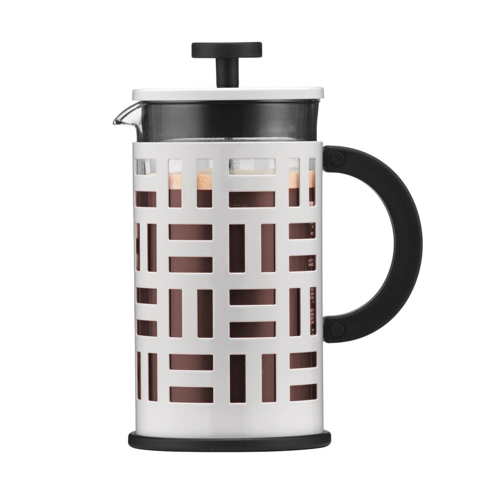 bodum eileen 8 cup white french press coffee maker 11195. Black Bedroom Furniture Sets. Home Design Ideas