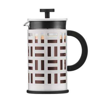 Eileen 8-Cup White French Press Coffee Maker