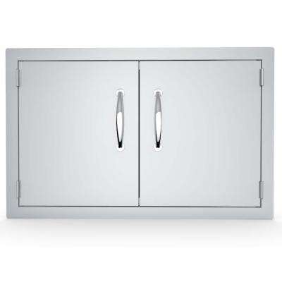 Classic Series 30 in. Stainless Steel Double Access Door