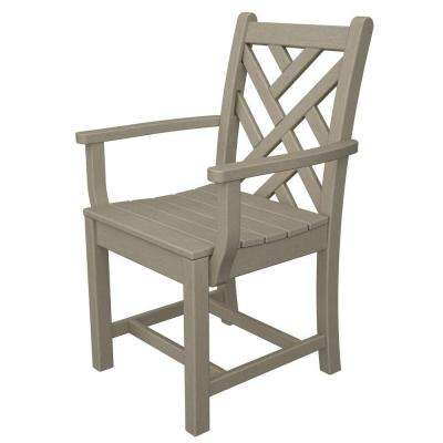 Chippendale Sand Patio Dining Arm Chair