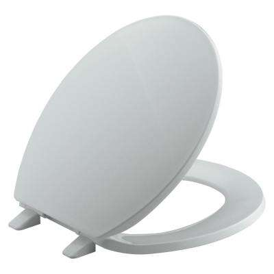 Brevia Round Closed Front Toilet Seat in Ice Grey