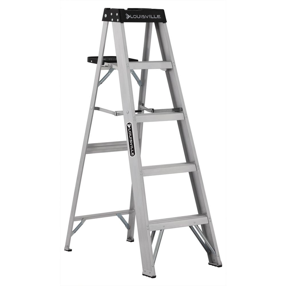 5 ft. Aluminum Step Ladder with 300 lbs. Load Capacity Type
