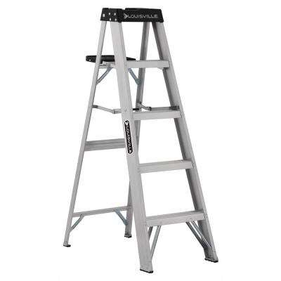 5 ft. Aluminum Step Ladder with 300 lbs. Load Capacity Type IA Duty Rating