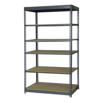 84 in. H x 48 in. W x 12 in. D 6-Shelf Boltless Steel Shelving Unit in Gray