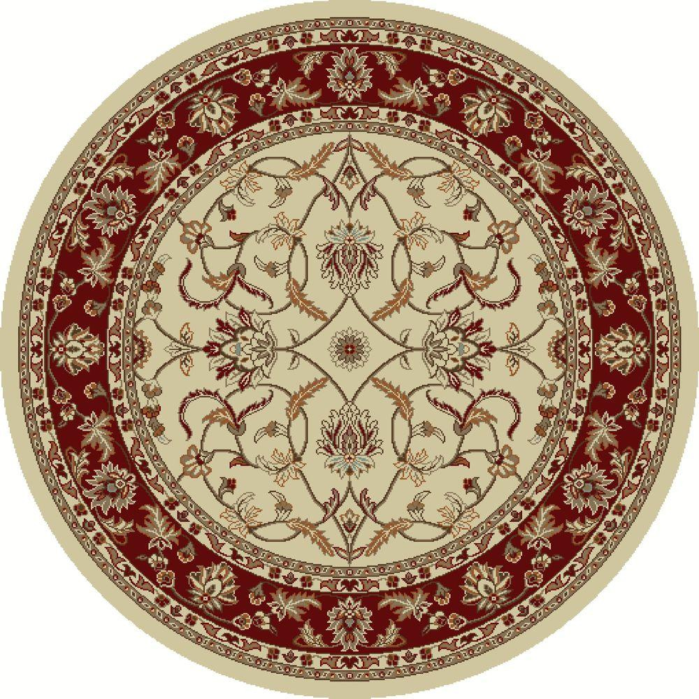 Chester Sultan Ivory 5 ft. 3 in. Round Area Rug