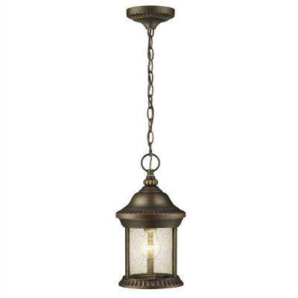 Cambridge 1 Light Outdoor Essex Bronze Hanging Lantern