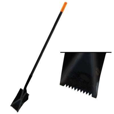 Serrated Roofers Spade with wide heel Steel Handle