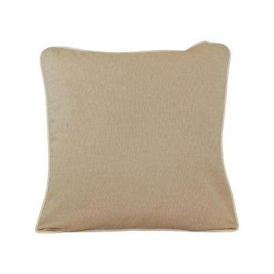 20 in. x 20 in. Jute  Standard Pillow with Green Eco Friendly Insert