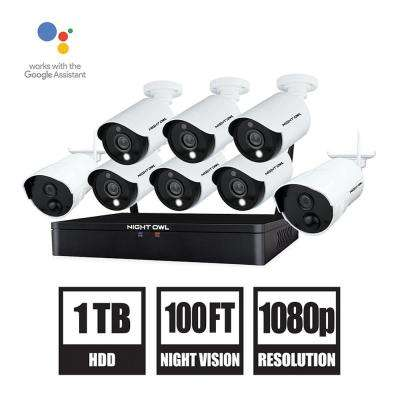 12-Channel 1080p HD Hybrid Wired + Wireless 1TB DVR Security Surveillance System with 6-Wired and 2-Wireless Cameras