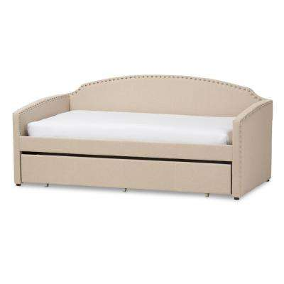 Lanny Contemporary Beige Fabric Upholstered Twin Size Daybed