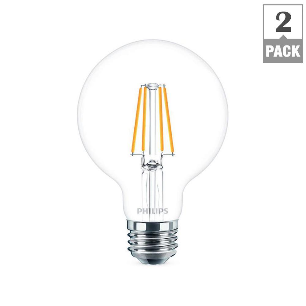 40-Watt Equivalent G25 Dimmable LED Light Bulb Daylight Globe (2-Pack)