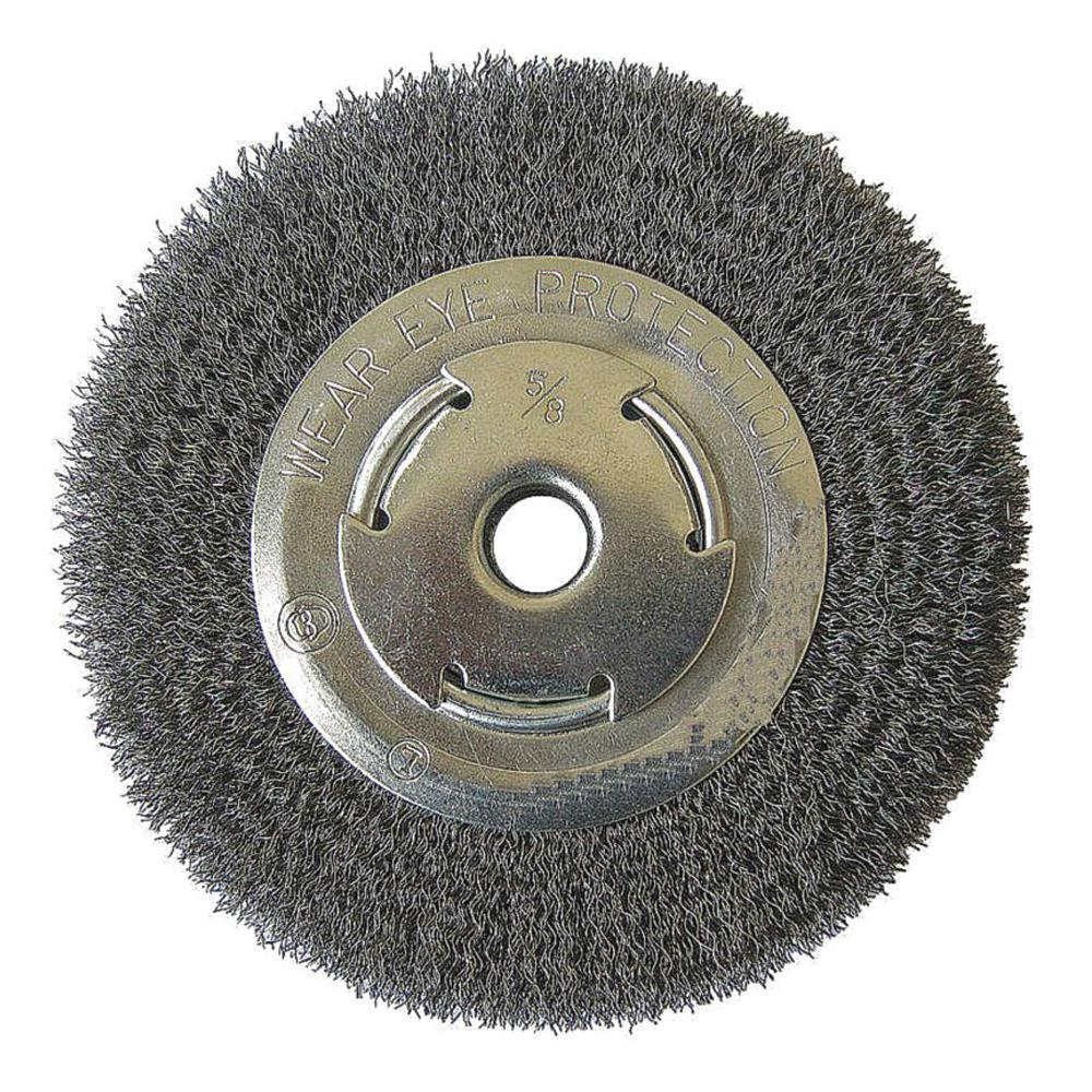 Robtec 7 In X 5 8 In Arbor Crimped Wire Wheel Brush
