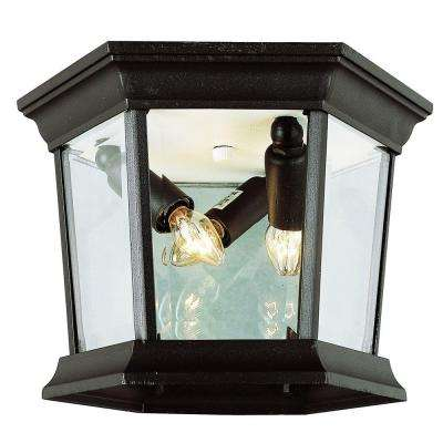 Stewart 3-Light Outdoor Black Incandescent Ceiling Light
