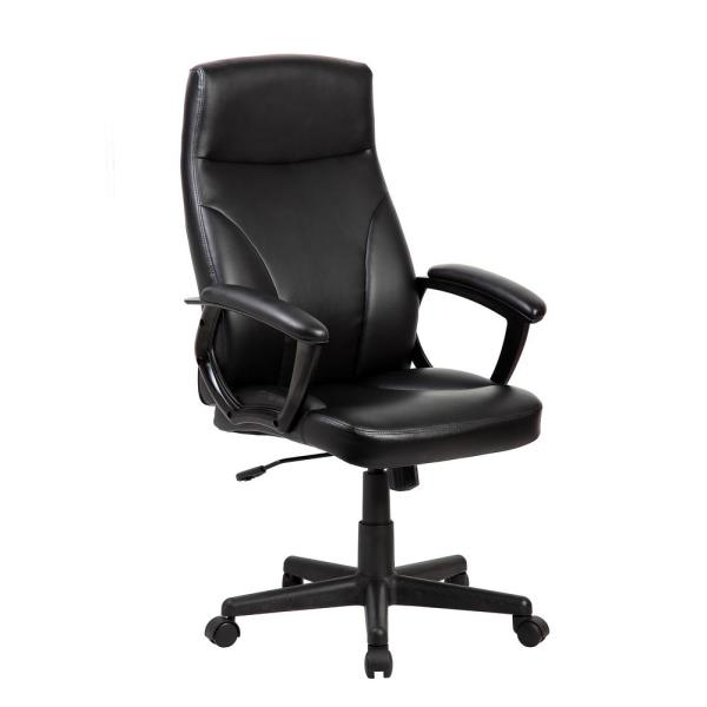 Techni Mobili Black Medium Back Executive Office Chair