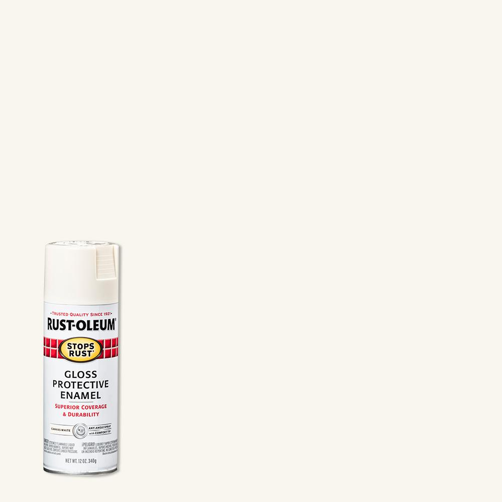 Rust-Oleum Stops Rust 12 oz. Protective Enamel Gloss Canvas White Spray Paint (6-Pack)
