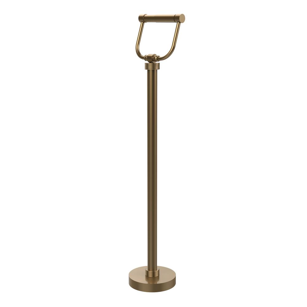 Free Standing Toilet Paper Holder in Brushed Bronze