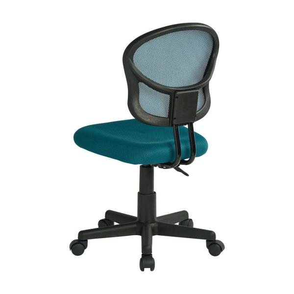 Osp Home Furnishings Mesh Blue Fabric Task Chair Em39800 7 The Home Depot