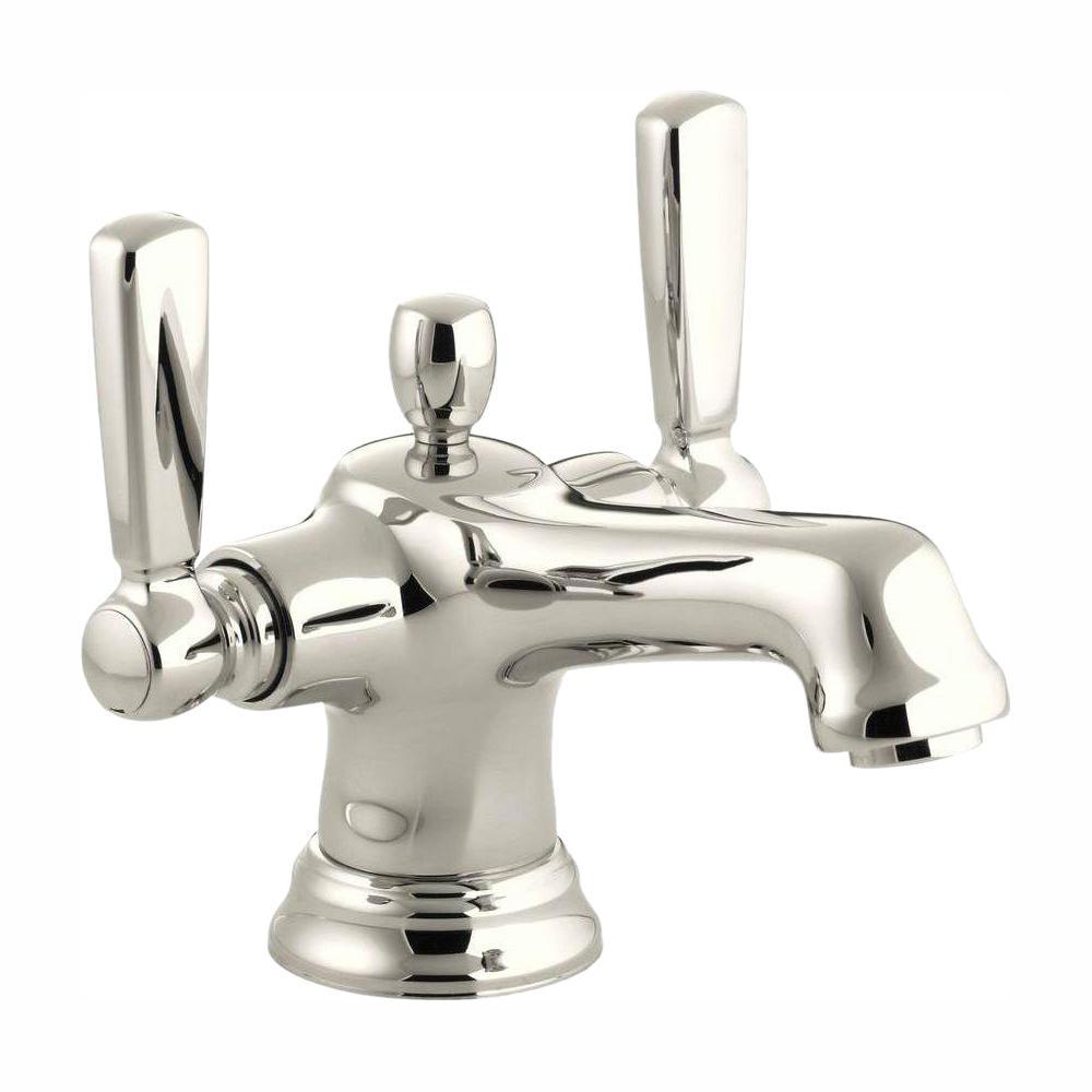 KOHLER Bancroft Single Hole 2-Handle Low-Arc Bathroom Faucet in Vibrant Polished Nickel