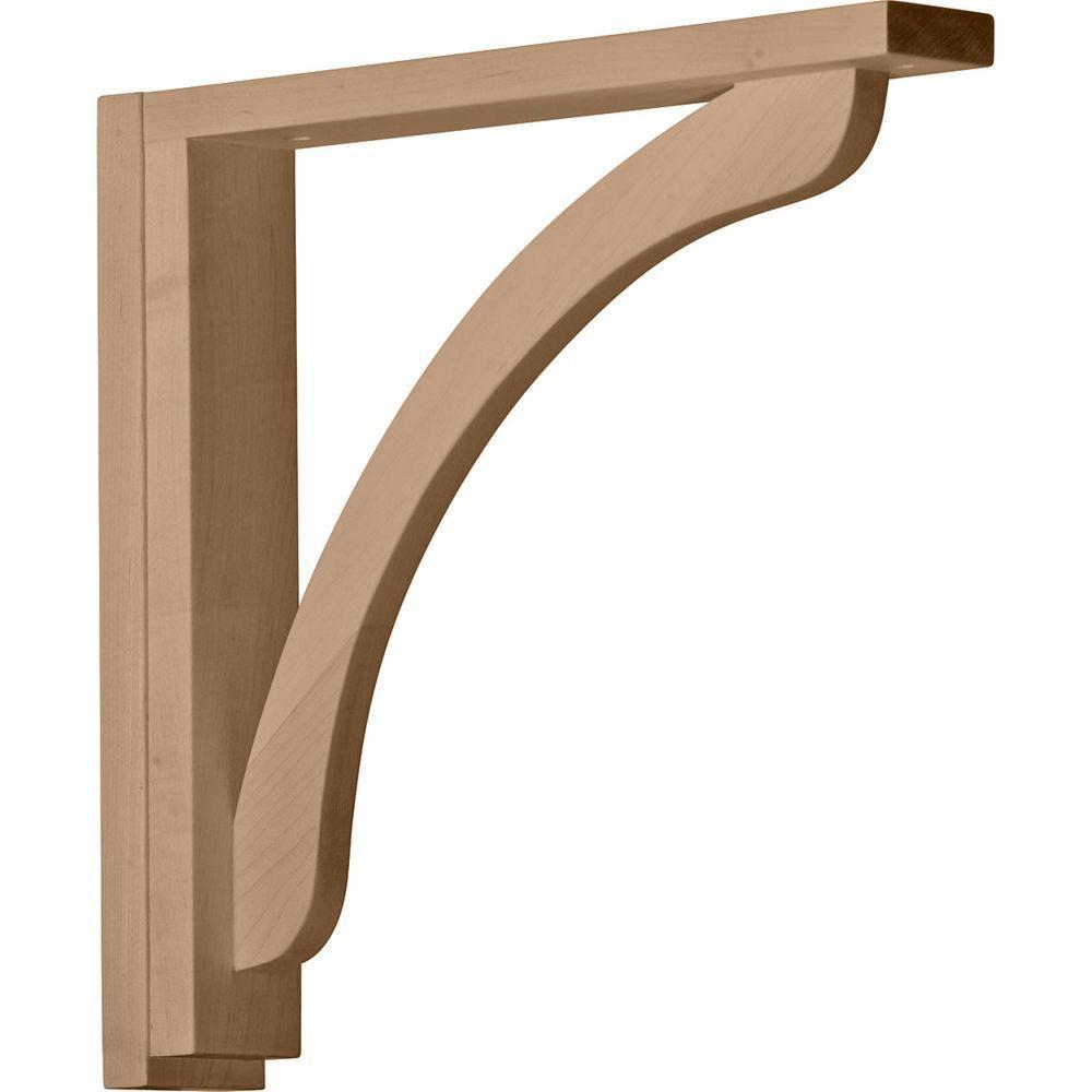 Ekena Millwork 2-1/2 in. x 14-3/4 in. x 14-1/4 in. Red Oak Reece Shelf Bracket
