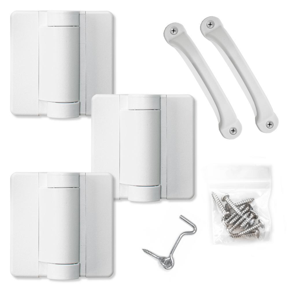 White Heavy Duty Screen Door Hardware Kit