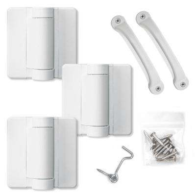 White Heavy Duty Screen Door Hardware Kit