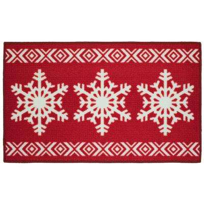 Snowflake Sweater 18 in. x 30 in. Printed Holiday Mat