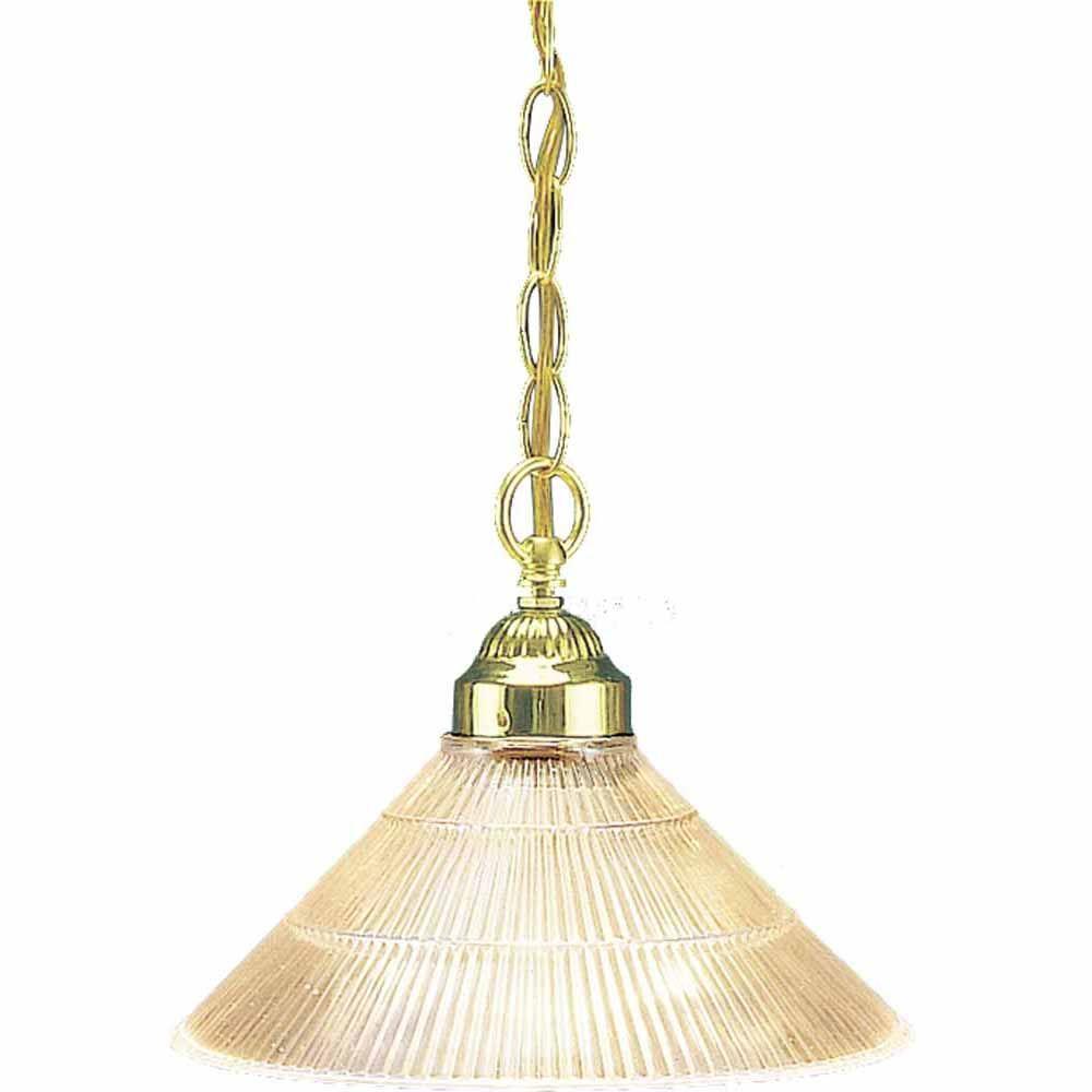 Filament Design Lenor 1-Light Polish Brass Incandescent Semi Flush Mount