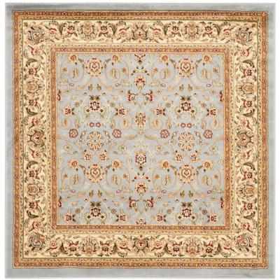 Lyndhurst Light Blue/Ivory 5 ft. x 5 ft. Square Area Rug