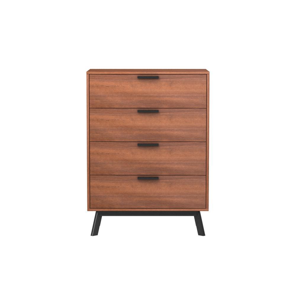 Milan 4-Drawer Vintage Umber Dresser