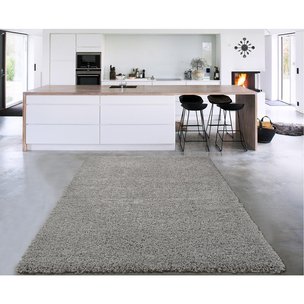 Cozy Collection Gray 7 Ft X 9 Indoor Area Rug