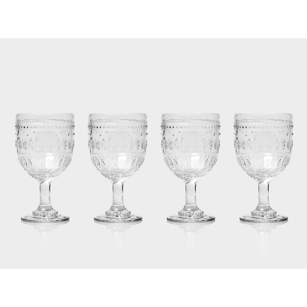 Fez 4-Piece 12 oz. Clear Wine Glass Set
