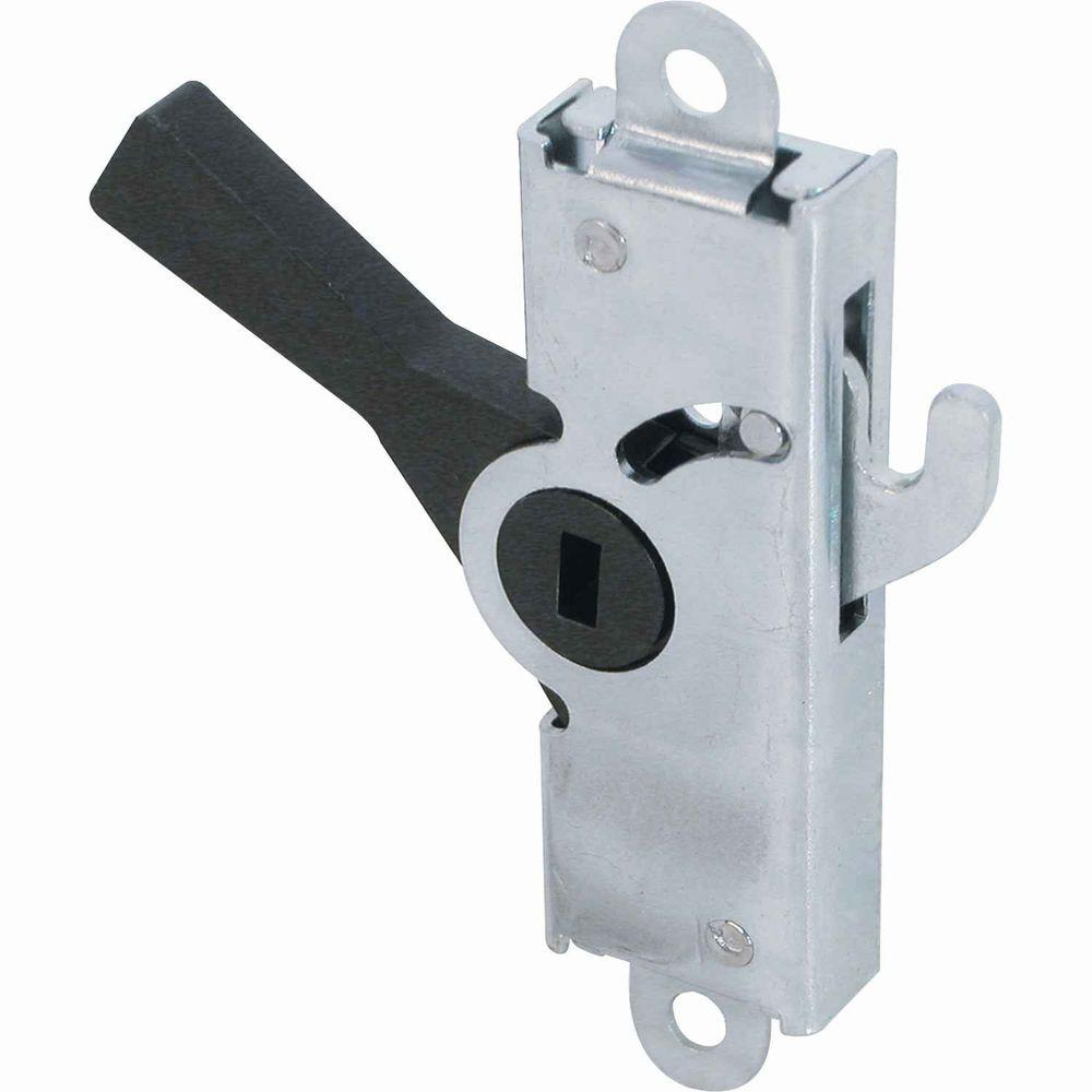 Prime line black patio door hook latch e 2029 the home depot for 1 2 lock the door