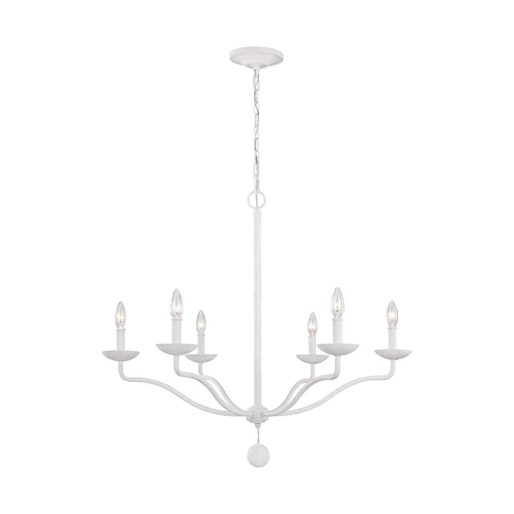 White chandeliers lighting the home depot annie 6 light plaster white chandelier arubaitofo Image collections