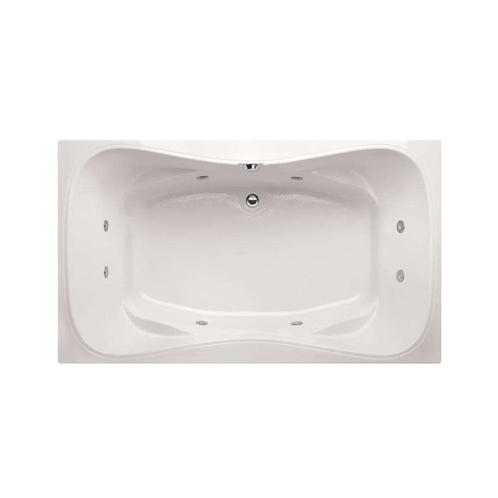Studio Hourglass 5 ft. Reversible Drain Whirlpool Tub in White