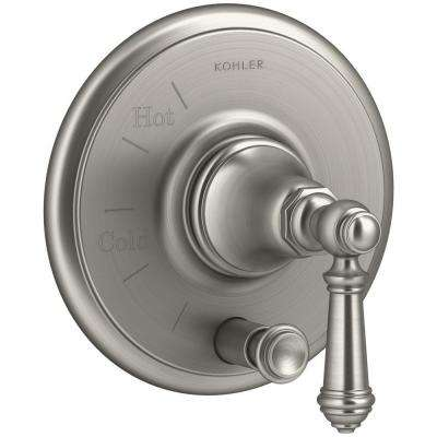 Artifacts Lever 1-Handle Rite-Temp Pressure Balancing Valve Trim Kit in Vibrant Brushed Nickel (Valve Not Included)