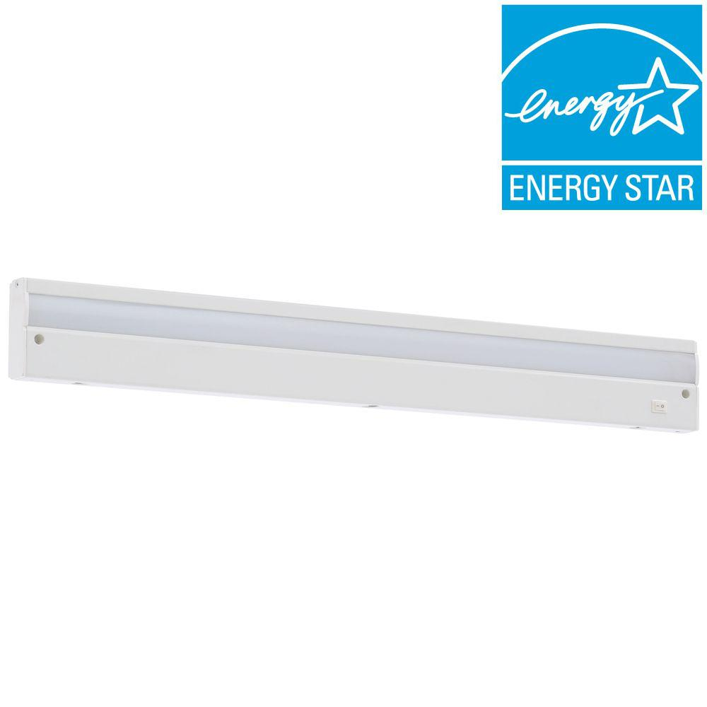 Commercial Electric 24 In Led White Direct Wire Under Cabinet Light