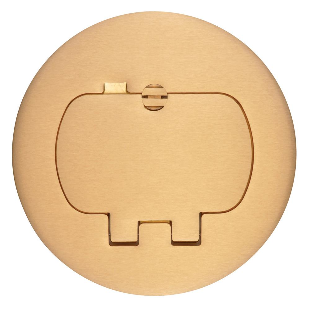 Carlon Round Brass Floor Box Cover Kit Duplex Gfci Case Of 3 E97brr The Home Depot