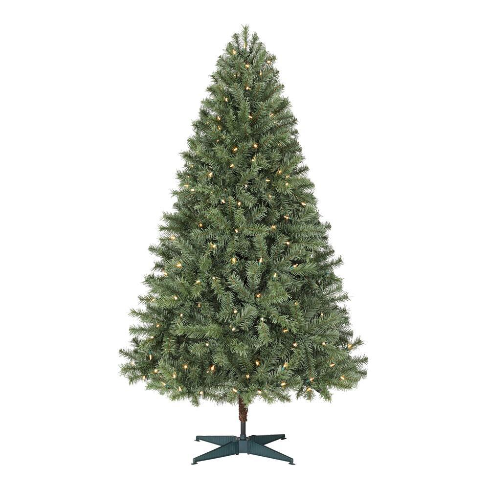 6.5 ft Festive Pine LED Pre-Lit Artificial Christmas Tree with 250 Color Changing Lights and 3 Functions