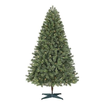 6.5 ft. Festive Pine Pre-Lit Artificial Christmas Tree with 250 Color Changing LED Lights and 3 Functions
